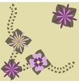 Decorative flower frame vector image
