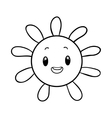 funny sun coloring book vector image