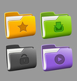 Icons folders set vector image