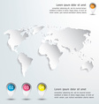 3d world map and infographics Design vector image vector image