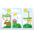 African Animals Banners vector image