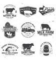 american farm badge or label vintage vector image