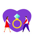 an offer marriage man proposes a woman to vector image