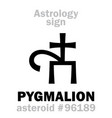 astrology asteroid pygmalion vector image vector image