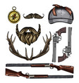 attributes hunter icon vector image