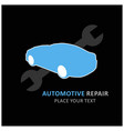 auto centre auto repair service car and wrench vector image vector image