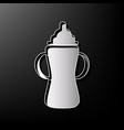 baby bottle sign gray 3d printed icon on vector image vector image