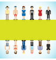 Banner with pixel people vector image vector image