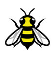 bee logo symbol icon sign vector image