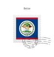 Belize Flag Postage Stamp vector image vector image
