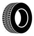 black terrain tyre symbol vector image vector image