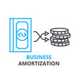business amortization concept outline icon vector image
