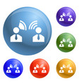 candidate speech icons set vector image vector image
