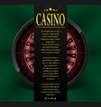 casino poster or flyer design casino banner vector image vector image