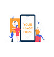 chatting online - colorful flat design style vector image
