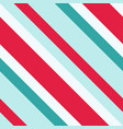 christmas diagonal striped seamless pattern vector image vector image