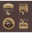 Classic retro cars Vintage labels set vector image vector image