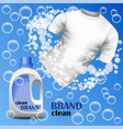 cleaner brand concept background realistic style vector image
