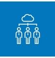 Cloud computing line icon vector image vector image