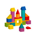 colorful blocks toy building tower castle house vector image vector image