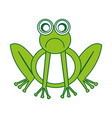 comic sad frog character icon vector image