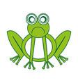 comic sad frog character icon vector image vector image