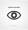 Creative gear with eye silhouette symbol vector image vector image