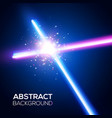 crossing laser sabers war battle with star flash vector image