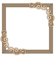 Decorative ornate frame vector image vector image