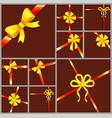 decorative ribbon bows and silk tapes set vector image vector image