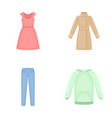 dress with short sleeves trousers coats raglan vector image vector image