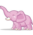 Elephant Raising Its Trunk vector image vector image