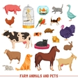 Farm Animals And Pets Set vector image vector image