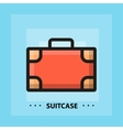 flat suitcase icon vector image vector image