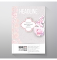 Floral background with place for text and pink vector image