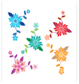 Floral pattern with flowers and leaves vector image vector image