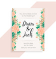 flower concept wedding invitation card design vector image vector image