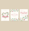 flower theme for the design of gift flyers the vector image vector image