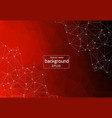 geometric red polygonal background molecule and vector image vector image