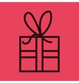 gift box isolated icon design vector image vector image