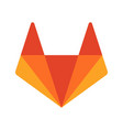 gitlab emblem red fox vector image vector image