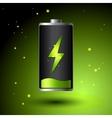 Green Battery charging - Alternative Eco Energy vector image