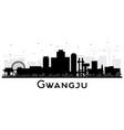 gwangju south korea city skyline silhouette vector image vector image