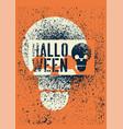 halloween vintage stencil spray grunge poster vector image vector image