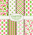 happy easter seamless patterns vector image vector image