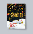 happy new 2018 year poster template vector image vector image