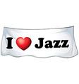 I love Jazz vector image vector image