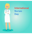 international nurses day banner vector image vector image