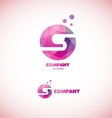 Letter S sphere circle logo vector image vector image