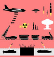 nuclear war alert pictograph vector image
